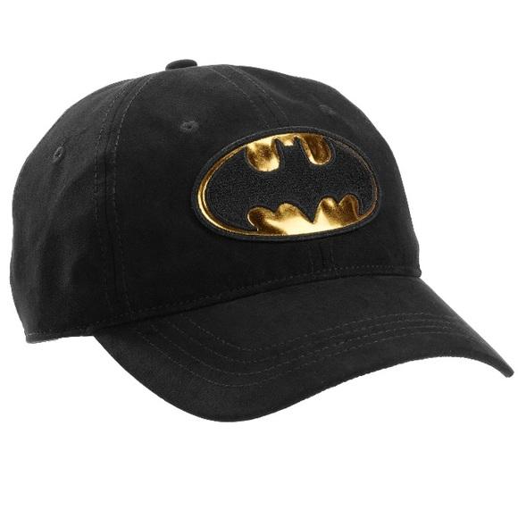 DC Comics Batman Baseball Cap Hat Black Gold Logo faea48f2480
